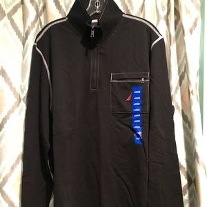 Nautica New Mens Long Sleeve Shirt Black White Lg